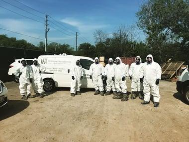 Hudson Team in Hazmat Suits
